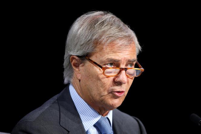 Vincent Bolloré devant les actionnaires de Vivendi à Paris, le 21 avril.