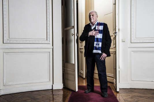 Philippe Sollers, le 1er avril, dans les bureaux de Gallimard, à Paris.