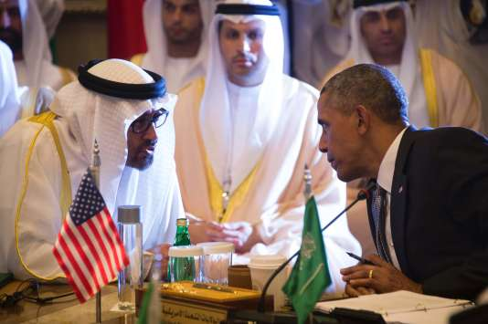 Barack Obama avec le prince d'Abou Dhabi, jeudi 21 avril.