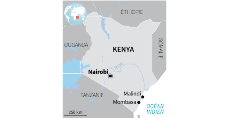 Carte du Kenya.