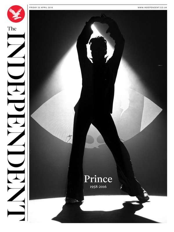 Couverture de l'édition numérique du quotidien britannique «The Independent».