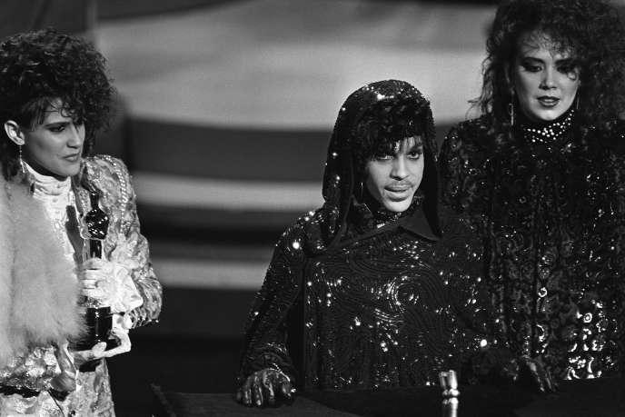 Le chanteur américain Prince en 1985.