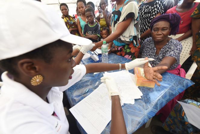 Une campagne de dépistage du paludisme à Lagos, en avril 2016.