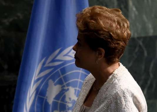 Devant les Nations unies, la présidente brésilienne n'a pas utilisé le mot «coup d'Etat» mais s'est dite convaincue que le peuple serait «capable d'empêcher un retour en arrière».