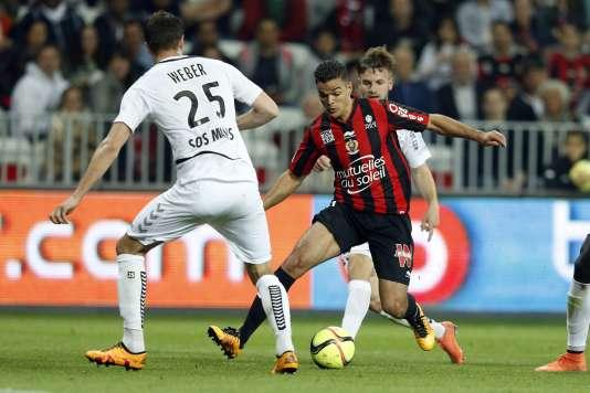 Hatem Ben Arfa lors du match de Nice face à Reims, le 22 avril.