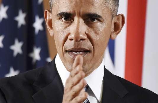 Le président américain Barack Obama lors d'une conférence de presse à Londres le 22 avril.