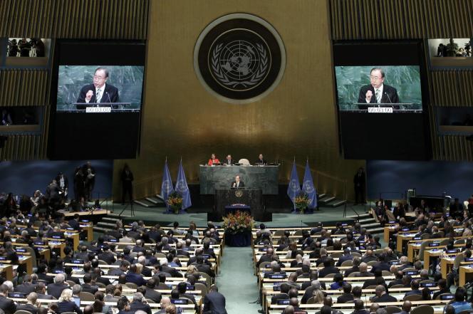 Une soixantaine de chefs d'Etat et de gouvernement sont présents au siège de l'Organisation des Nations unies, à NewYork, le 22avril.