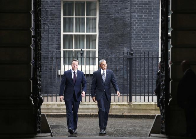 David Cameron et Barack Obama à Londres le 22 avril 2016.