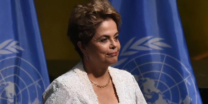 La présidente du Brésil, Dilma Rousseff , à New York le 22 avril.