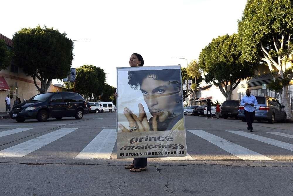 Dans une rue de Los Angeles.