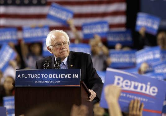 Le candidat démocrate à la Maison Blanche Bernie Sanders à Baltimore, samedi 23 avril.
