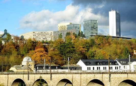 La ville de Luxembourg en novembre 2014.