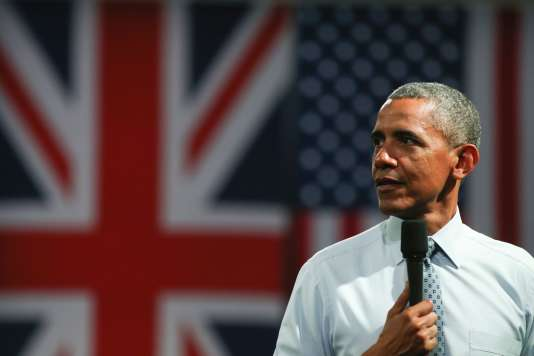 Barack Obama à Londres le 23 avril 2016.