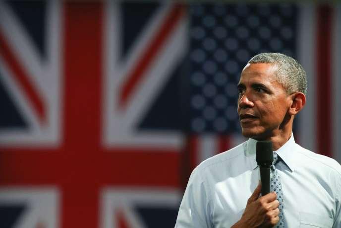 Barack Obama à Londres le 23 avril 2016.