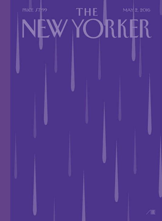 """Couverture de la prochaine édition de l'hebdomadaire américain """"The New Yorker""""."""