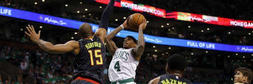 Isaiah Thomas est devenu le 9e joueur des Celtics à dépasser les 40 points sur un match de playoffs.