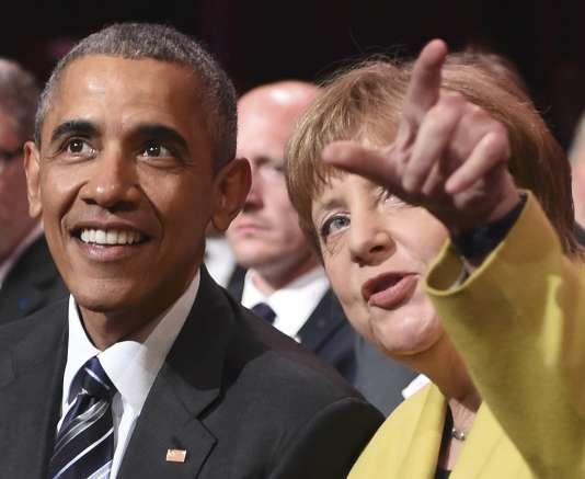 Le président américain a multiplié, dimanche à Hanovre, les éloges à l'égard d'Angela Merkel, insistant sur le rôle que l'Allemagne avait pris ces dernières années sur la scène internationale.