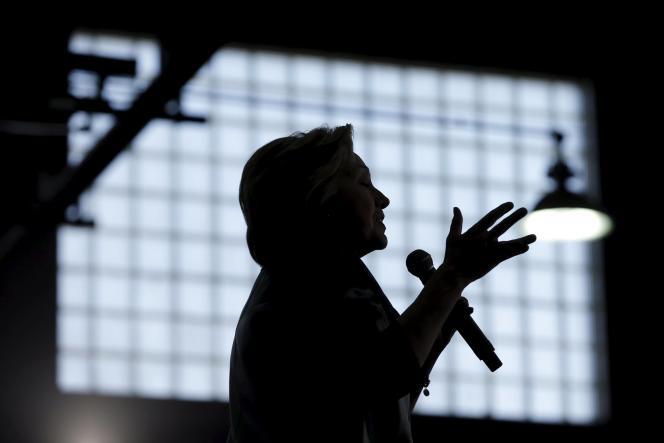 Hillary Clinton lors d'un meeting à Bridgeport, dans le Connecticut, le 24 avril.