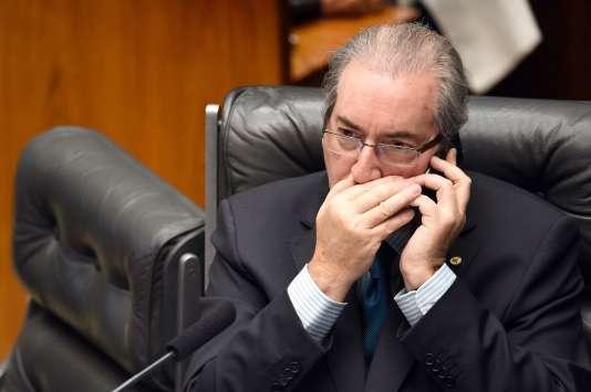 Eduardo Cunha, le 16 avril à Brasilia.