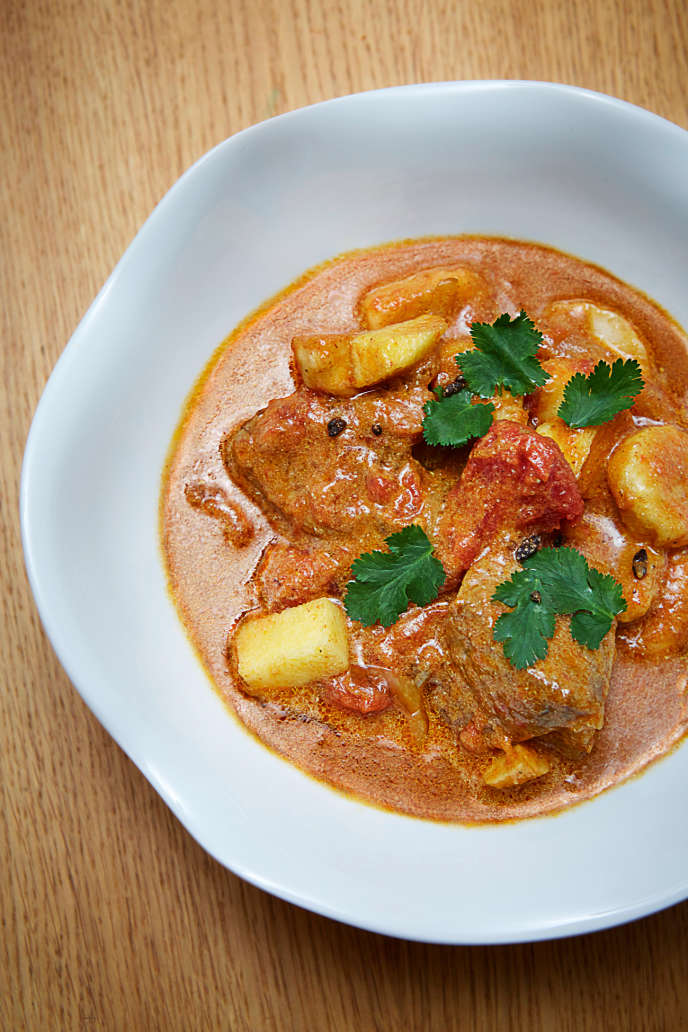 Le curry fruité d'Olivier Pescheux.