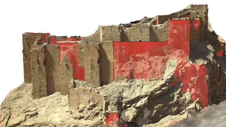 Hypothèse, en 3D, de restauration de la citadelle de Palmyre.