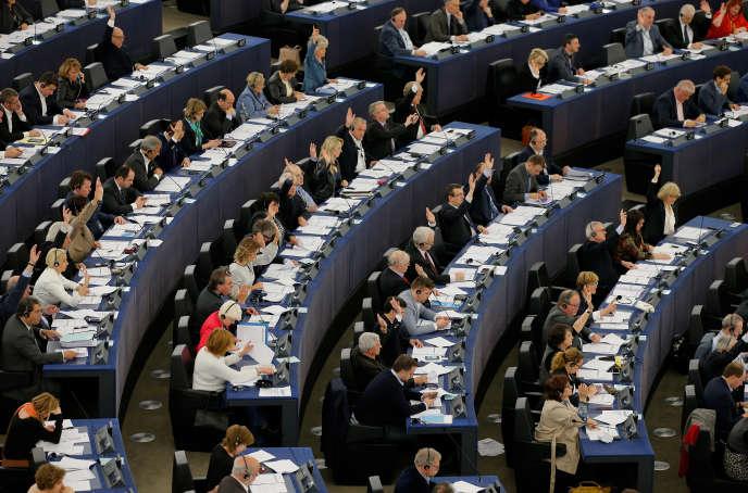 Au parlement européen, à Strasbourg, le 14 avril 2016.