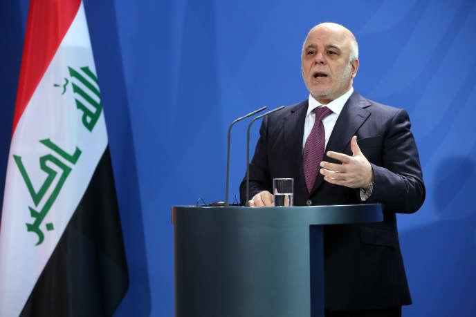 Le premier ministre irakien Haïder Al-Abadi, lors d'une conférence de presse en Allemagne, le 11 février 2016.
