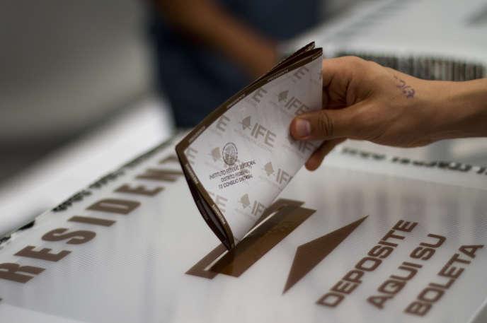 Lors des élections de juillet 2012 au Mexique.