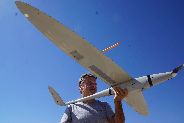 Pour photographier Khorsabad, l'ancienne capitale assyrienne sous le joug de l'EI, un drone, au rayon d'action de 100 km, est utilisé par Philippe Barthélémy, cofondateur de la start-up Iconem.