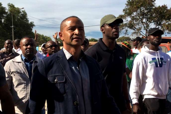 L'ancien allié du président Joseph Kabila, devenu opposant, lors d'une marche réprimée par les forces de l'ordre à Lubumbashi le 24 avril.