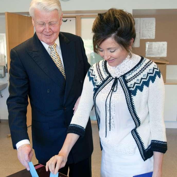 Le président islandais, Olafur Ragnar Grimsson, et son épouse, Dorrit Moussaieff, en juin 2012.