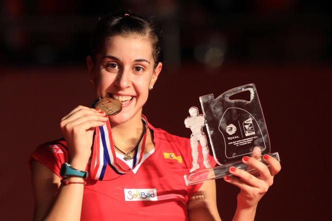 La double championne du monde Carolina Marin est l'une des ambassadrice Solibad.