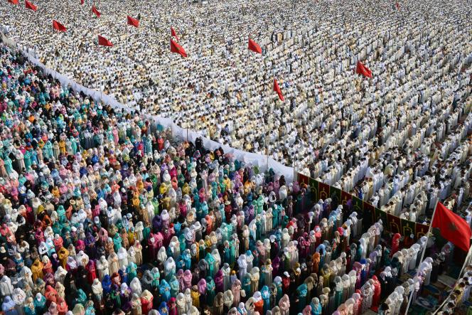 Une prière de l'Aid à Rabat, au Maroc, en juillet 2015.