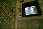 A monitor screen of the first power block's control assembly of Chernobyl nuclear power plant displays works for unloading of the last atomic fuel from the reactor, 30 November, 2006. On Thursday Ukraine marks the 20th anniversary of the 30 November 1986 completion of the concrete sarcophagus. The sarcophagus is showing signs of wear, and more than 20 countries have chipped in nearly a billion dollars for the construction of a 20,000-ton steel case to take its place.     AFP PHOTO/ SERGEI SUPINSKY / AFP PHOTO / SERGEI SUPINSKY