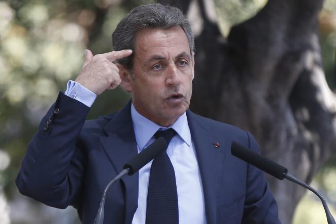 Nicolas Sarkozy, le 26 avril à Nice.