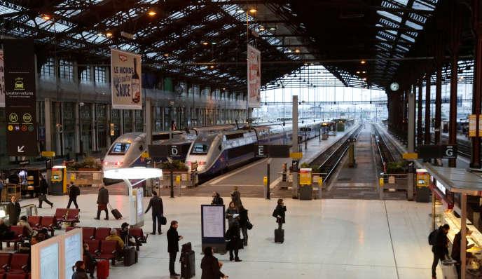 La gare de Lyon, à Paris, le 26 avril 2016.