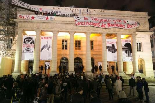 Les militants avaient demandé à son administrateur de pouvoir occuper l'Odéon-Théâtre de l'Europe, à Paris, jusqu'à mardi.