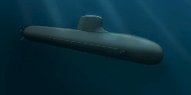 Un sous-marin français de type Barracuda Block 1A, dessiné par DCNS pour la Royal Australian Navy.