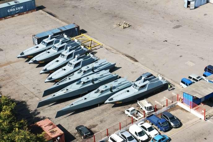 Vue des huit bateaux de la société d'Etat mozambicaine, Proindicus.