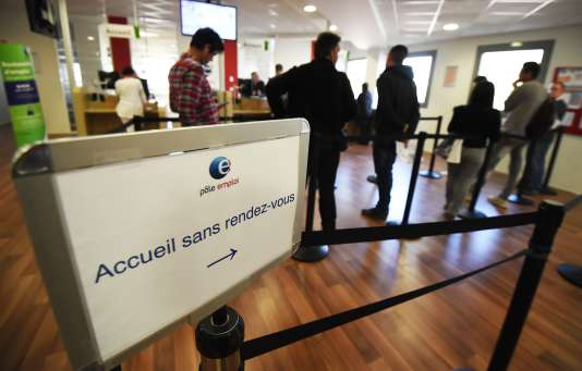 Agence Pôle emploi de Montpellier, en avril 2016.
