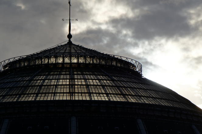La verrière de la Bourse de commerce de Paris.