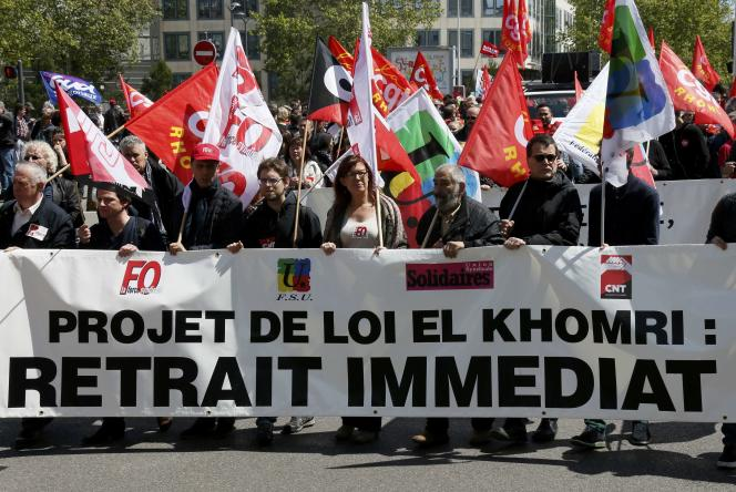 Manifestation à Lyon, le 28 avril.