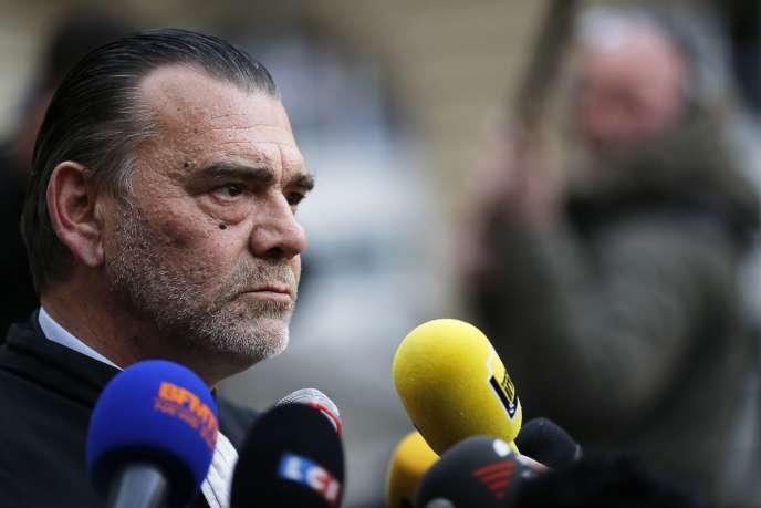 Frank Berton, avocat de  Salah Abdeslam, à Paris le 27 avril 2016.