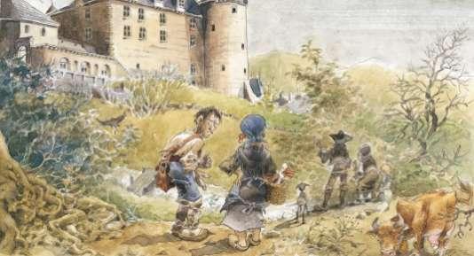 """""""Le chat qui courait sur les toits"""" (Le Lombard, 2010, scénario Michel Rodrigue)."""