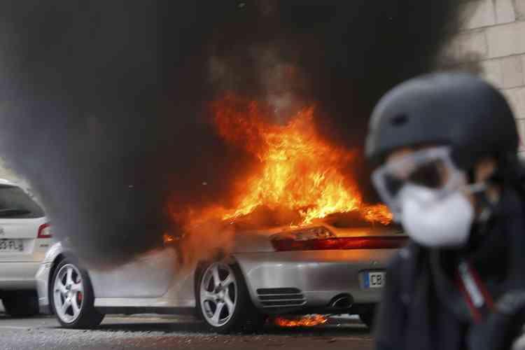 A Nantes, en début de manifestation.