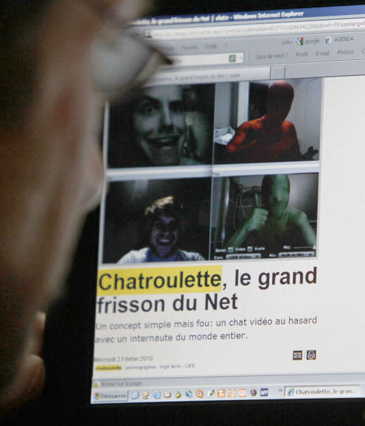 Images  par webcam sur le site de rencontre Chatroulette, en 2010.
