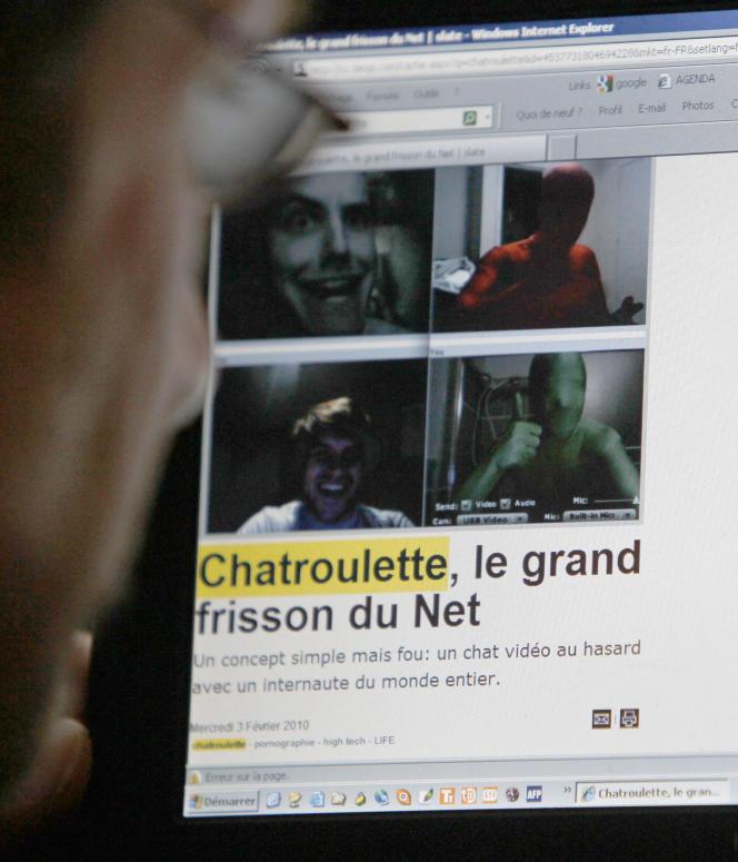 Images  par webcam sur le site de rencontre Chatroulette, en 2010.