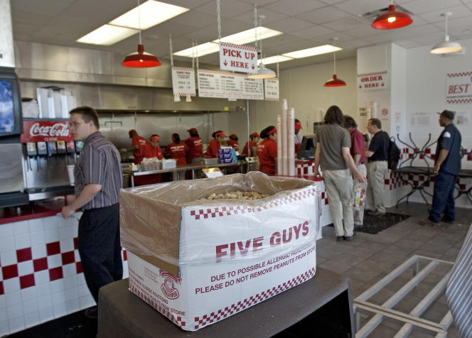 Un restaurant Five Guys à Washington DC, aux Etats-Unis, en 2007.