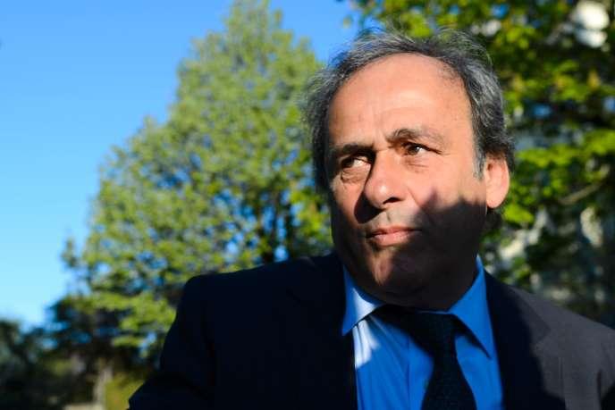Michel Platini à son arrivée au Tribunal arbitral du sport, à Lausanne, vendredi 29 avril.