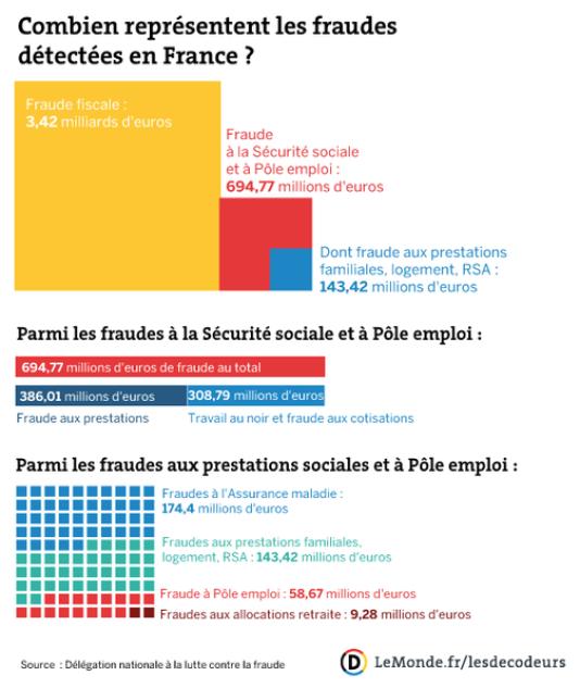 La fraude sociale en France en 2013.